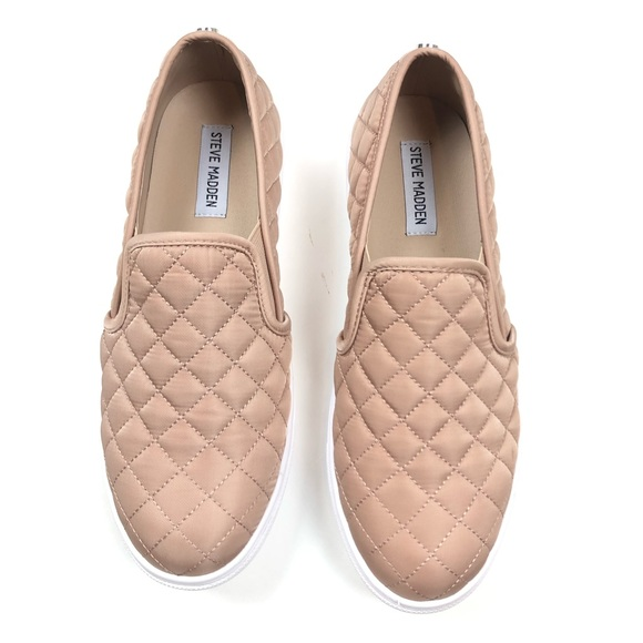 best prices save up to 80% authentic Steve Madden Shoes | Ecntrcqt Blush Nude Quilted Sneakers | Poshmark